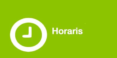 Horaris dels Graus i Guies Docents - Facultat de Veterinària - UAB Barcelona