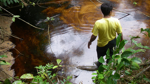 Eliseo Hualinga, monitor ambiental de FECONACOR
