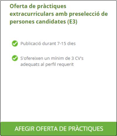 Publicar oferta de pràctiques a NEXUS
