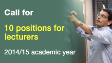 Ten positions for lecturers