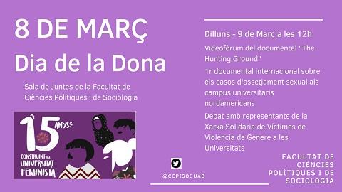 La Uab Celebra El Dia Internacional De La Dona Treballadora Facultat De Ciències Polítiques I De Sociologia Uab Barcelona