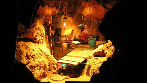 Image: El Sindrón archaeological site. CSIC
