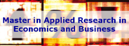 Master in Applied Research in Economics and Business
