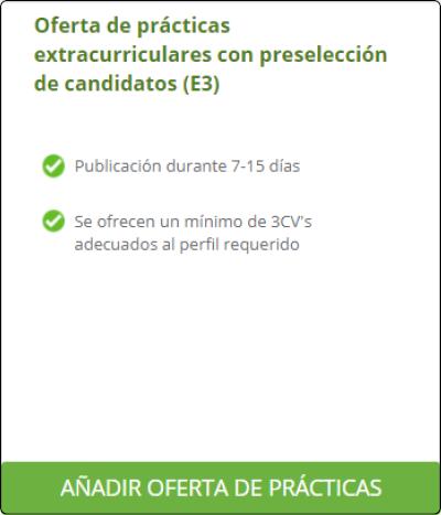 Publicar oferta de prácticas en NEXUS